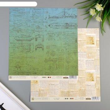 Набор бумаги для скрапбукинга (10 листов) записи, 30,5х30,5 см, плотность