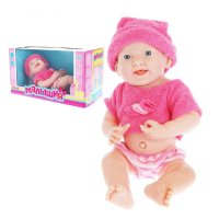 Малышня пупс в розовом костюмчике и шапочке, №sl-1072g