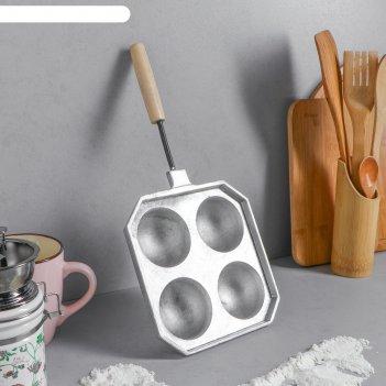 Форма для выпечки сырные шарики, с деревянной ручкой