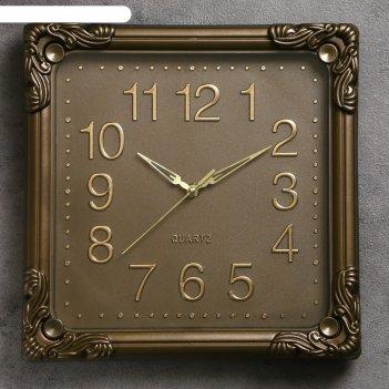 Часы настенные, серия: классика, мона, 30х30 см, песочные