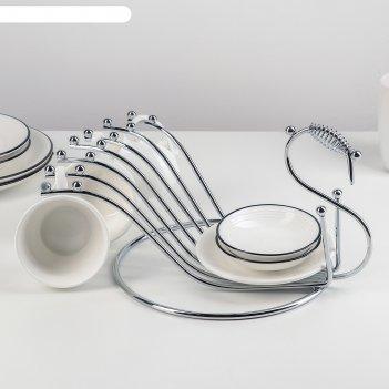 Подставка для чайного сервиза 27х20,5х14,5 см, цвет хром