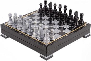 Шахматный ларец мрамор змеевик 395х395х80 мм 18 кг.