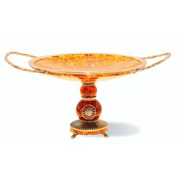 Конфетница цезарь из янтаря