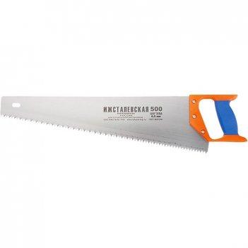 Ножовка по дереву, 400 мм, шаг зубьев 4 мм, пластиковая рукоятка (ижевск)