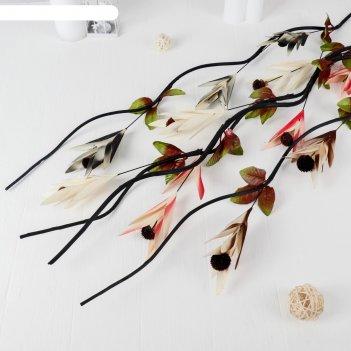 Декор лоза шишки в цветке 150 см, микс