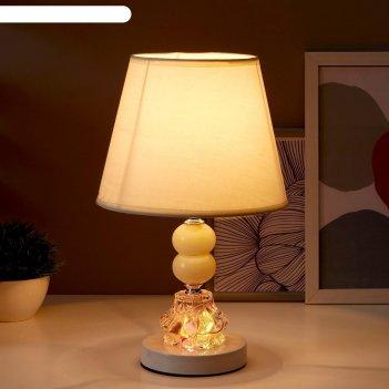 Лампа настольная с подсветкой лакрима 1х40вт е27 белый 21х21х36 см.