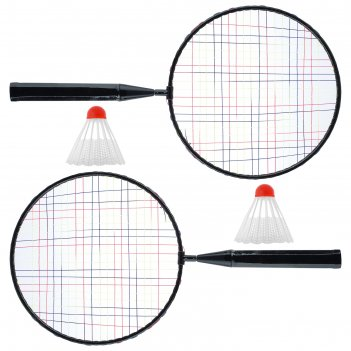 Набор ракетки для бадминтона+2 волана  цвет микс