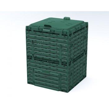 Компостер piteco с крышкой 300 л зелёный
