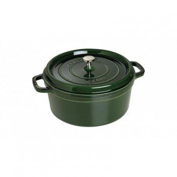 Кокот круглый, 28 см, 6,7 л, зеленый базилик