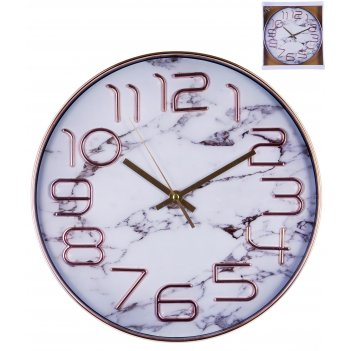 Часы настенные круглые home art «белый мрамор» 30 см