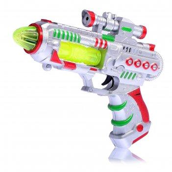Пистолет бластер, работает от батареек, световые и звуковые эффекты