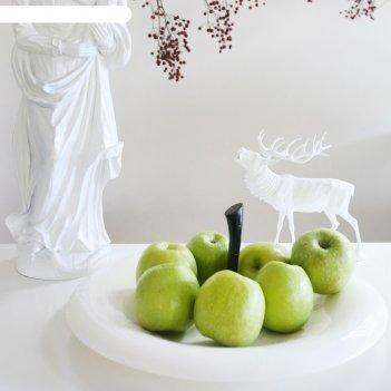 Блюдо для фруктов, big apple, бело-чёрное