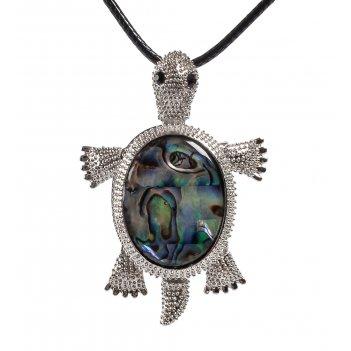 Кулон-брошь перламутровый черепаха