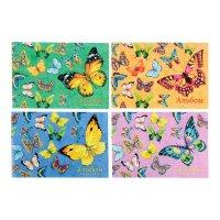 Альбом для рисования а4, 40 листов на клею бабочки, блёстки, микс