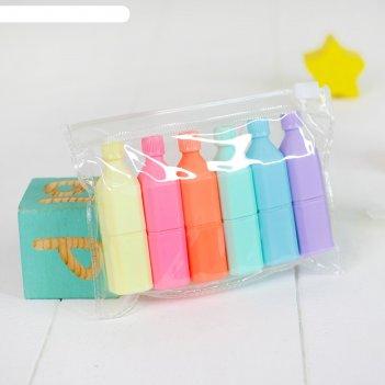 Фломастеры фигурные бутылочка набор 6 цветов