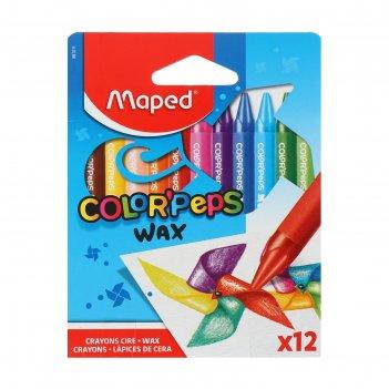 Восковые мелки 12цв colorpeps wax 861011