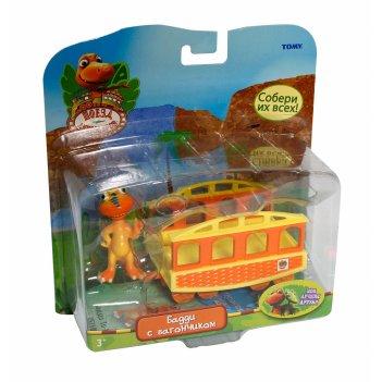 Т57080, набор поезд динозавров бадди с вагончиком