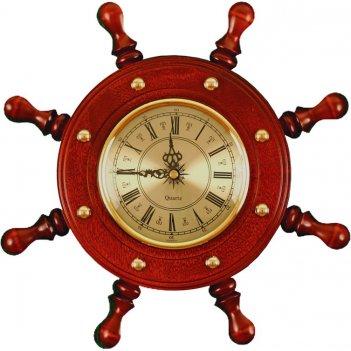 Шчст-с08 штурвал сувенирный, часы (8 ручек)