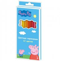 Карандаши цветные свинка пеппа 12цв.