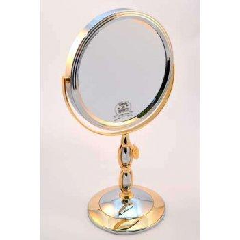 Зеркало b7 8066 c/g chrome&gold наст. кругл. 2-стор. 5-кр.ув