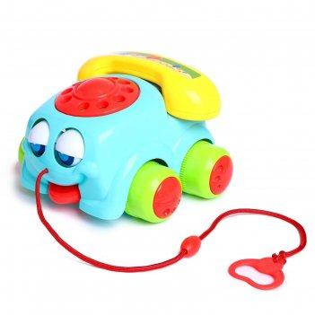 Каталка на веревочке весёлый телефончик