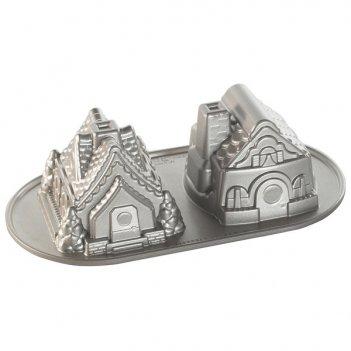Форма для выпечки дуэт пряничных домиков, объем 1,1 л (литой алюминий)