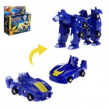 Робот-трансформер зверь, трансформируется при столкновенни 2 шт. в комплек