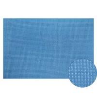 Канва 30х40 см  gamma   aida №14 цвет голубой, хлопок  k04