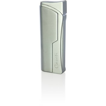 Зажигалка caseti газовая турбо, сплав цинка, хром, 2,9х1,2х7,8