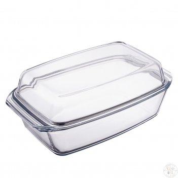 Блюдо для запекания с крышкой 2,8 л simax (жаропрочное)