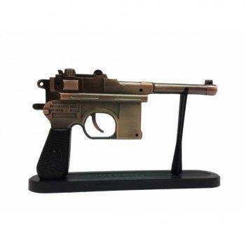 Зажигалка пистолет на подставке, l22 см