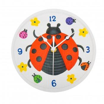 Роспись по гипсу, серия создай часы божья коровка, краски 8 цветов по 2 мл
