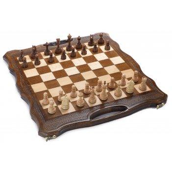 Шахматы + нарды резные defent 40, harutyunyan