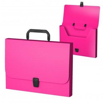 Папка-портфель а4 erichkrause, neon, розовая, пластиковая, 47419