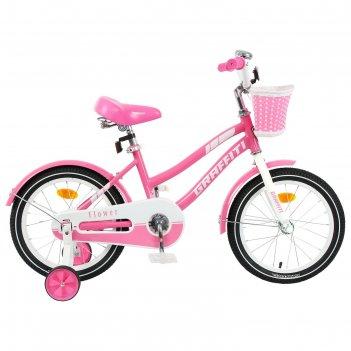 Велосипед 16 graffiti flower, цвет розовый/белый