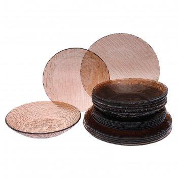 Сервиз столовый, 18 предметов: 6 шт d=18 см, 6 шт d=19 см, 6 шт d=20 см, ц