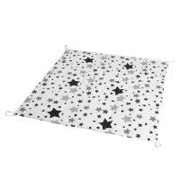 Игровой коврик для вигвама, хлопок,  чёрные звезды