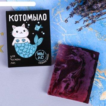 Косметическое мыло котомыло с ароматом ежевичного варенья