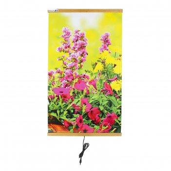 Обогреватель домашний очаг цветы, инфракрасный, 500 вт, 1050 х 600 х 0.5 м