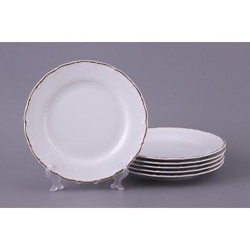 Набор тарелок из 6 шт. офелия 662 диаметр=21 см.