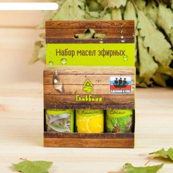 Набор эфирных масел сосна. лимон. эвкалипт, 3 шт по 17 мл