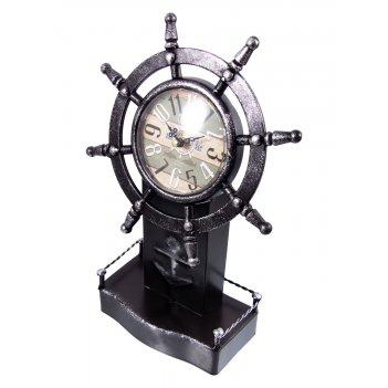 Часы настольные штурвал 22*10*34см