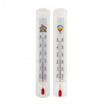 Термометр комнатный (0°с<т<+50°с), упаковка картон микс