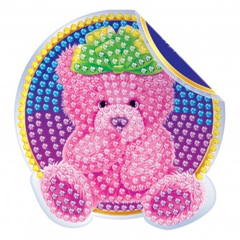 Алмазная вышивка наклейка для детей медвежонок
