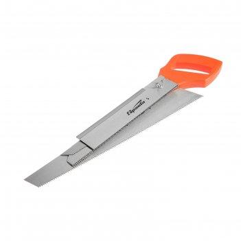 Ножовка по дереву sparta 231255, 350 мм, 5 сменных полотен, пластиковая ру