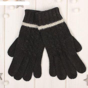 Перчатки женские далия, размер 16 (р-р произв. 8), цвет чёрный