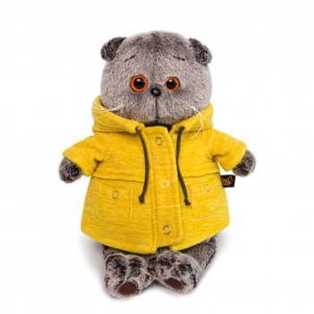 Мягкая игрушка «басик», в жёлтой куртке b co, 25 см