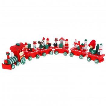 Сувенир новогодний поезд, 32 см