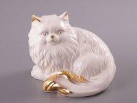 Статуэтка фарфоровая кот высота=13 см