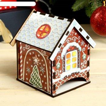 Чайный домик пряничный домик 12х8,6 см
